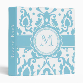 Moroccan Record Book Elegant Damask Monogram Vinyl Binders