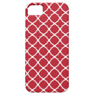 Moroccan Red pattern iPhone 5 Covers