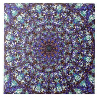 Moroccan romantic colored mandala pattern tiles