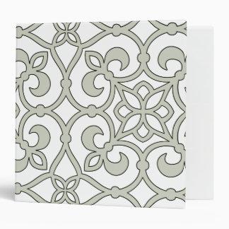 Moroccan Scroll Design Decorator Binder