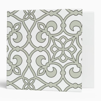 Moroccan Scroll Design Decorator Vinyl Binder