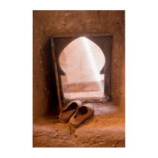 Moroccan Shoes At Window Acrylic Wall Art
