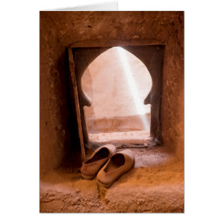 Moroccan Shoes At Window Card
