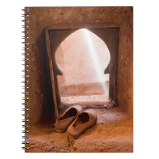Moroccan Shoes At Window Notebook
