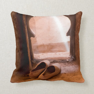 Moroccan Shoes At Window Throw Pillow