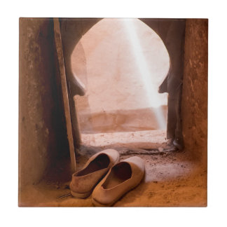 Moroccan Shoes At Window Tile
