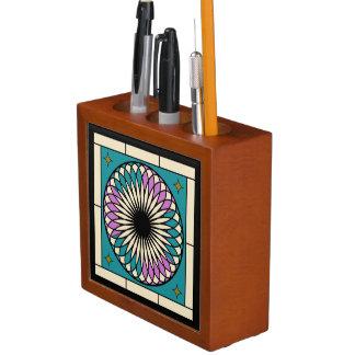 Moroccan Spiral Pattern Desk Organizer