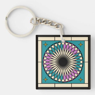 Moroccan Spiral Pattern Keychain