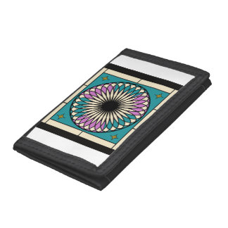 Moroccan Spiral Pattern Trifold Wallet