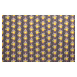 Moroccan style geometric print fabric