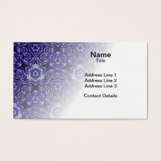 Moroccan Textile Pattern Business Card