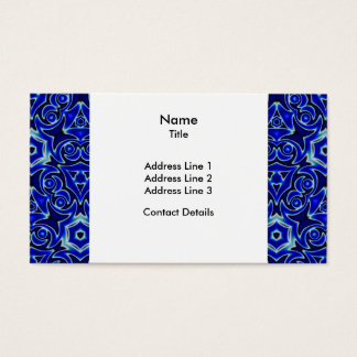 Moroccan Textile Pattern Tiled Symmetry Business Card