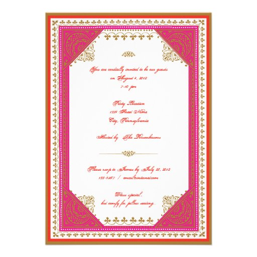 Moroccan themed party invitation