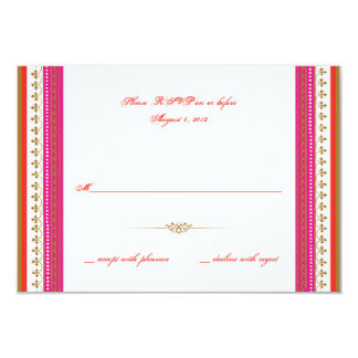 Moroccan themed party invitation rsvp reply card