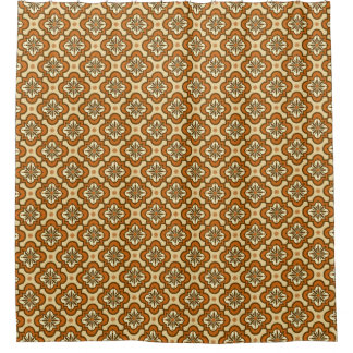 Moroccan tile pattern - Rust and Tan
