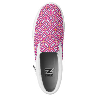 Moroccan Tile Stylish Patterned Slip-On Sneakers