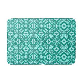 Moroccan tile - turquoise blue and aqua bath mat