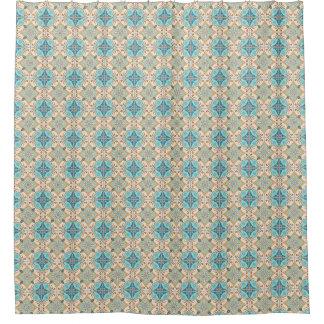 Moroccan Tiles Blue & Taupe bath