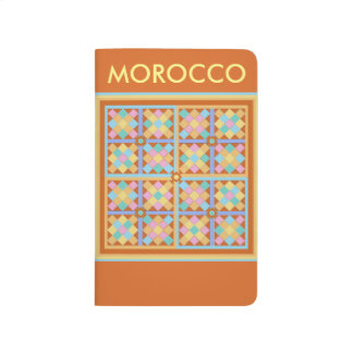 Moroccan tiles in pink blue and terracotta journals
