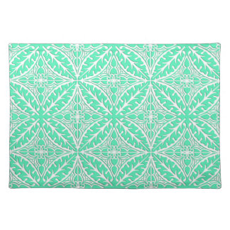 Moroccan tiles - robin's egg blue and white placemat