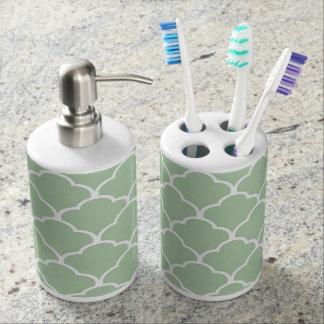 Moroccan Toothbrush Holder & Soap Dispenser Set