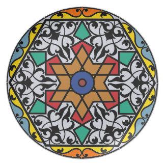 Moroccan traditional ceramic design melamine plate