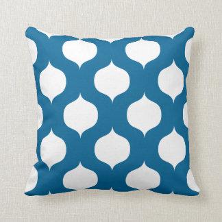 Moroccan Trellis Pattern Pillow in Mykonos Blue