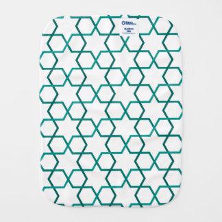 Moroccan weave pattern burp cloths
