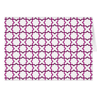 Moroccan weave pattern card