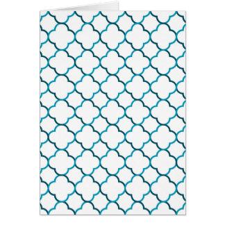 Moroccan weave pattern card