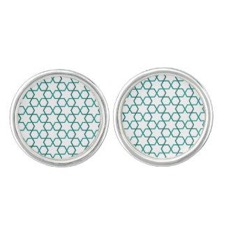Moroccan weave pattern cufflinks