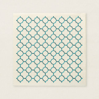Moroccan weave pattern disposable napkins