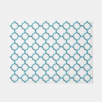 Moroccan weave pattern doormat