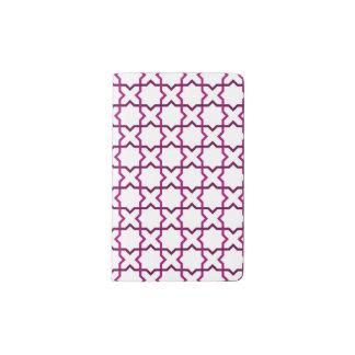 Moroccan weave pattern pocket moleskine notebook