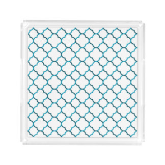 Moroccan weave pattern serving tray