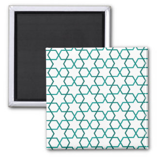 Moroccan weave pattern square magnet