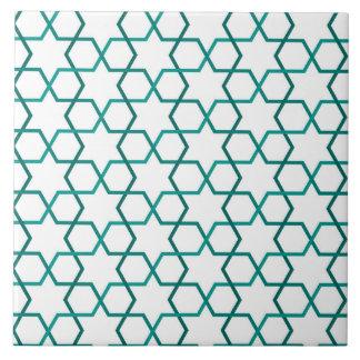 Moroccan weave pattern tile