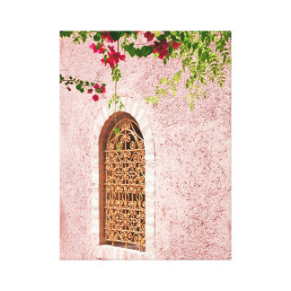 Moroccan window pink canvas print