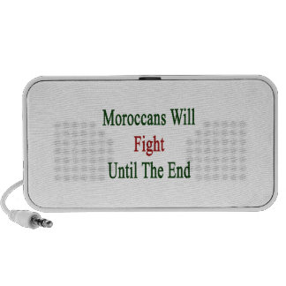 Moroccans Will Fight Until The End iPod Speakers