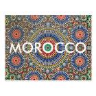 morocco arab mosaic islam religious pattern postcard