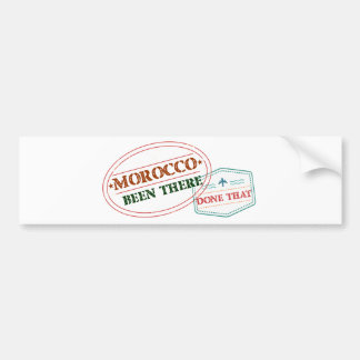 Morocco Been There Done That Bumper Sticker