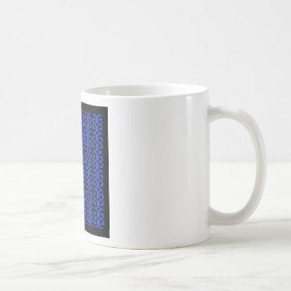 MOROCCO BLUE BLACK Fashion handdrawn Art Coffee Mug
