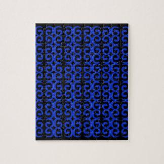 MOROCCO BLUE BLACK Fashion handdrawn Art Jigsaw Puzzle