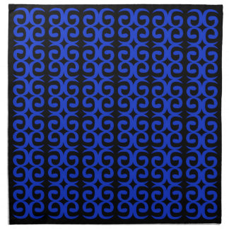 MOROCCO BLUE BLACK Fashion handdrawn Art Napkin