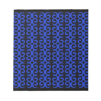 MOROCCO BLUE BLACK Fashion handdrawn Art Notepad