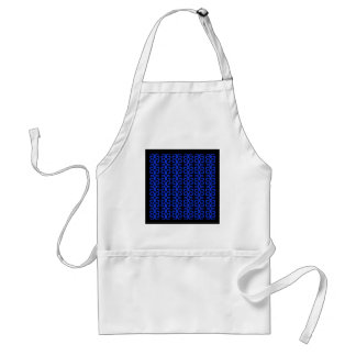 MOROCCO BLUE BLACK Fashion handdrawn Art Standard Apron