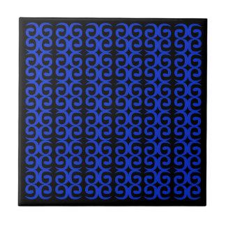 MOROCCO BLUE BLACK Fashion handdrawn Art Tile