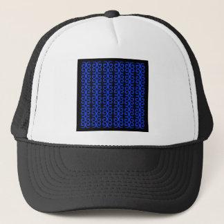 MOROCCO BLUE BLACK Fashion handdrawn Art Trucker Hat