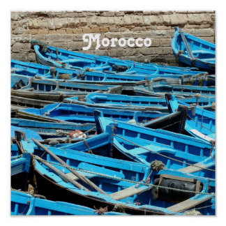 Morocco Boats Poster