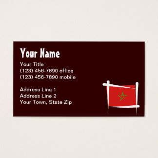 Morocco Brush Flag Business Card